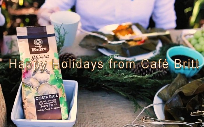 Happy Holidays from Café Britt